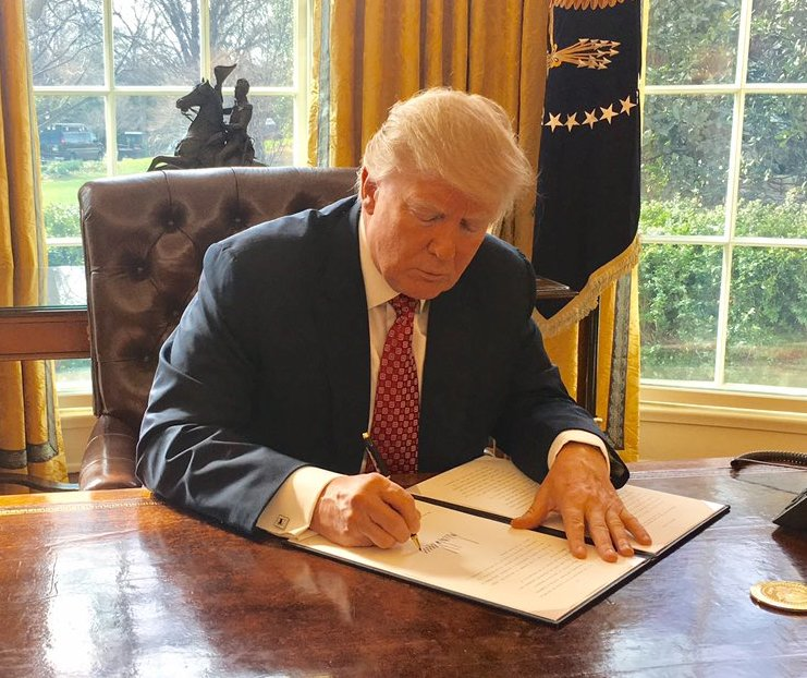 President Trump signing executive order