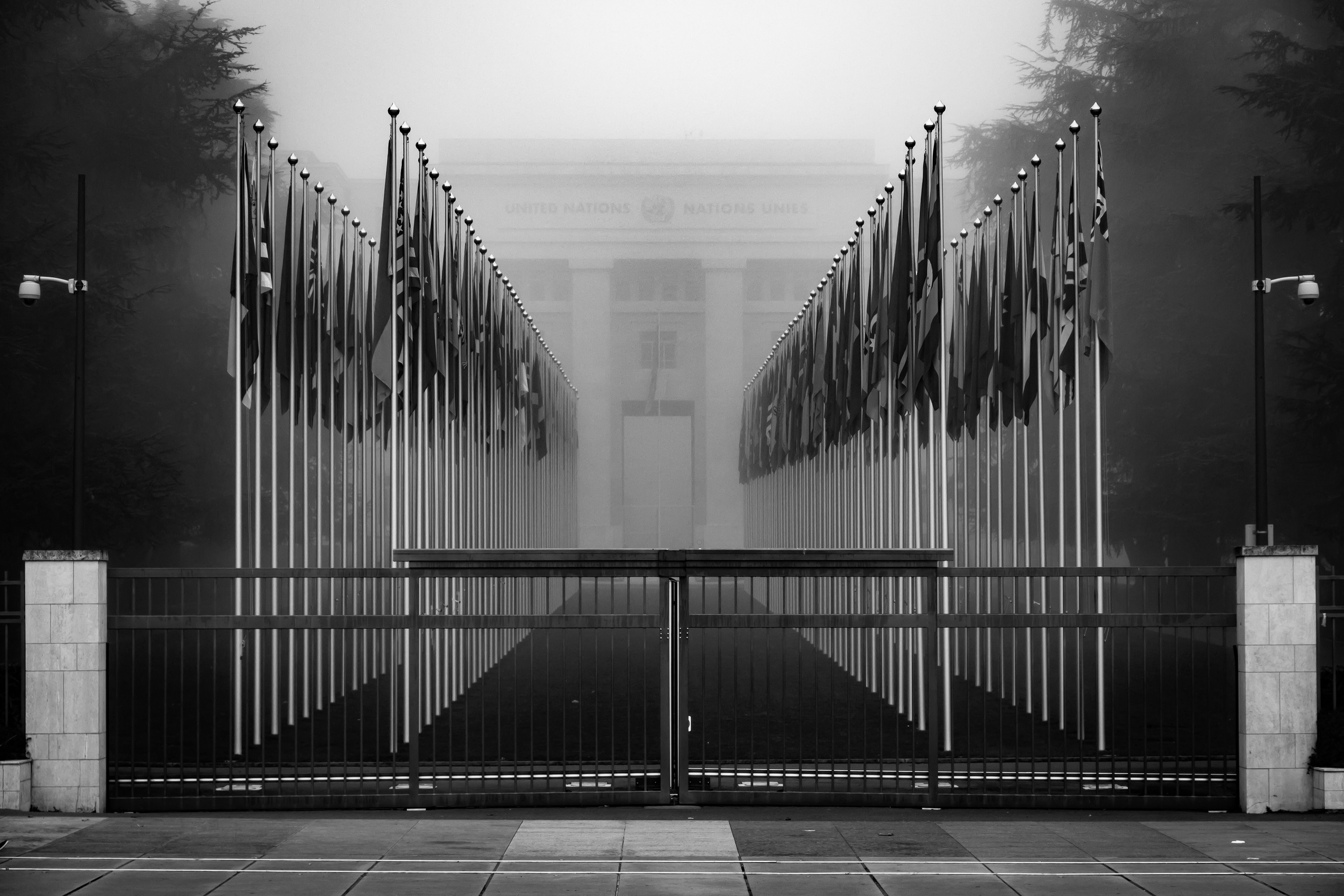 United Nations Closed Gate Geneva Switzerland