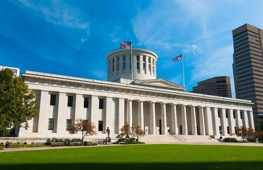 Exterior view of the Ohio Statehouse