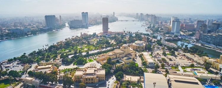 City skyline of Cairo, Egypt.