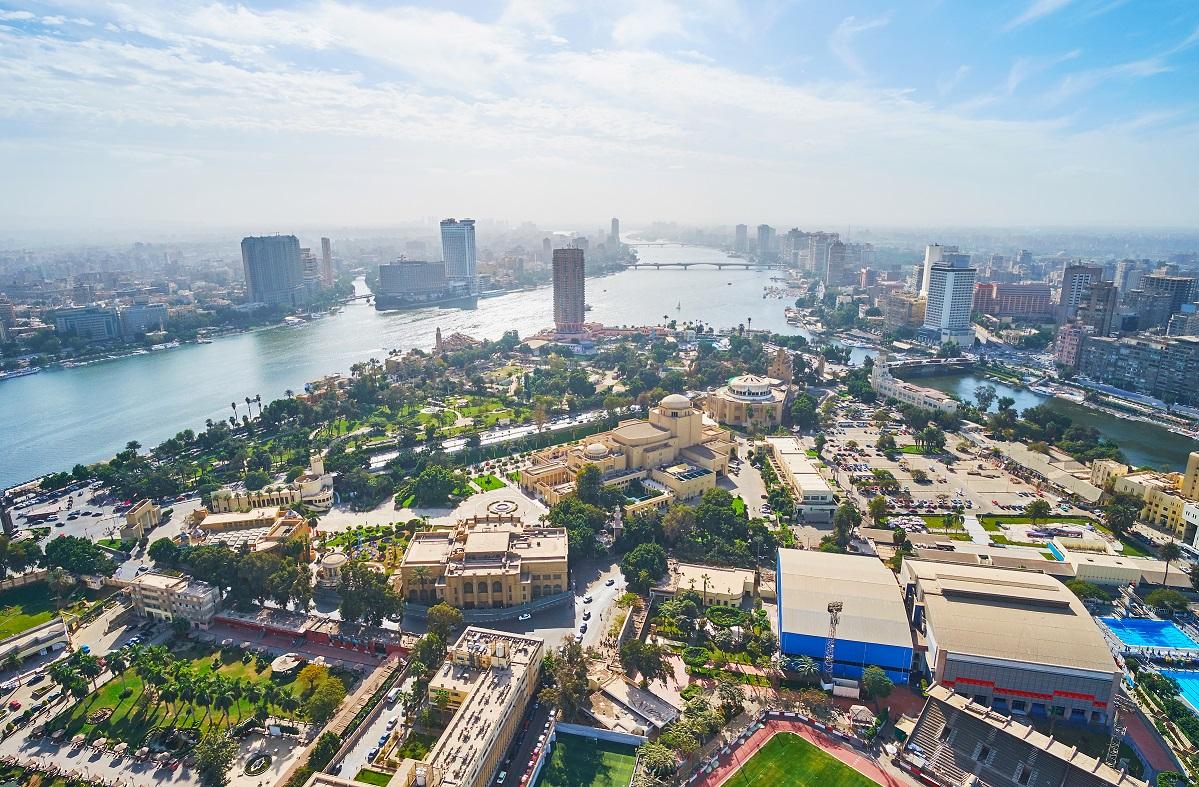 City skyline of Cairo, Egypt.